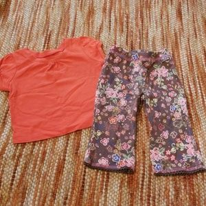 Girls 12 months leggings shirt bundle tcp